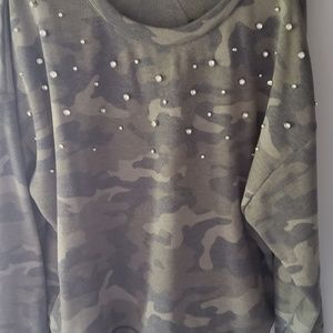 Camo colored pullover